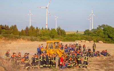 Übung der Jugend-Feuerwehren Bereich Mitte